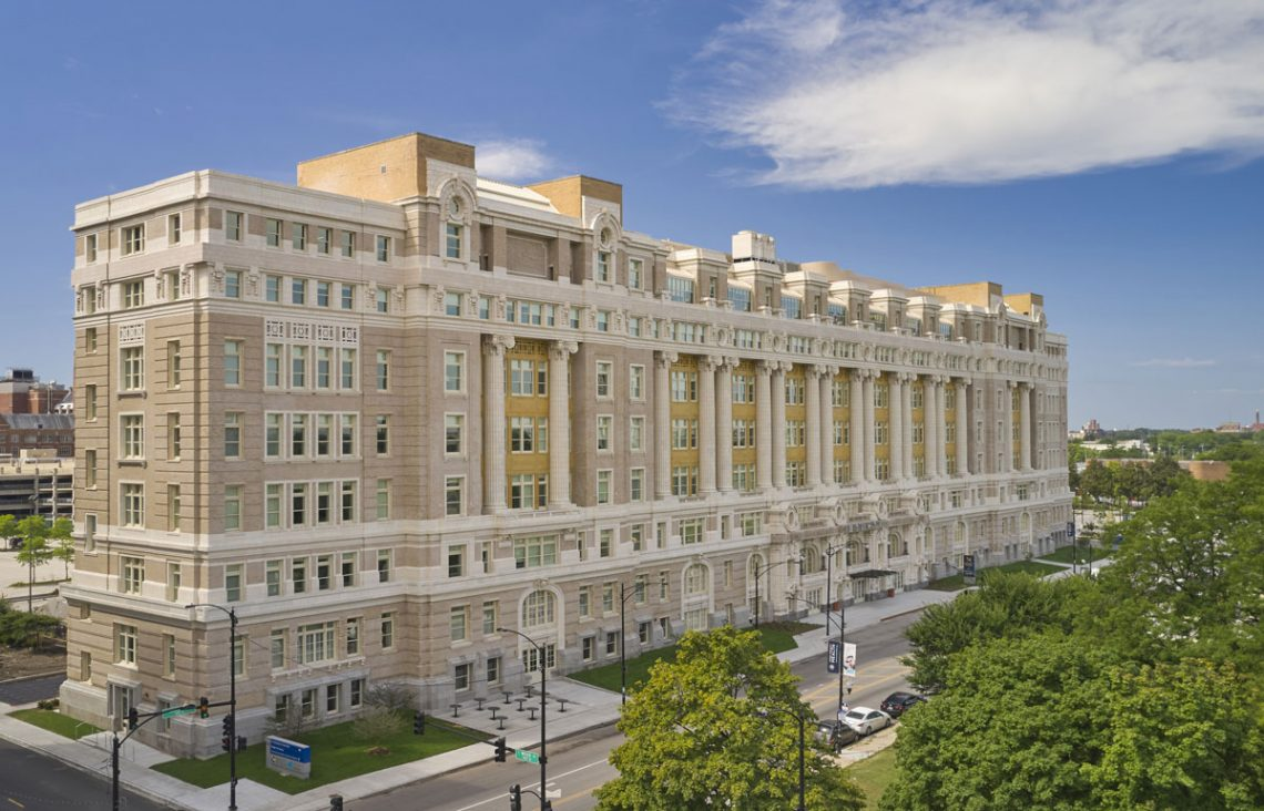 cook county hospital exterior, credit Mike Schwartz Photography