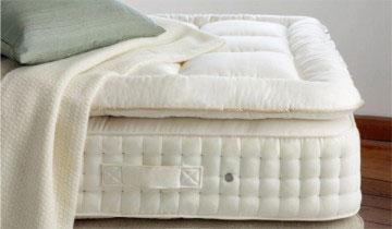 Vispring topper, Courtesy Chicago Luxury Beds