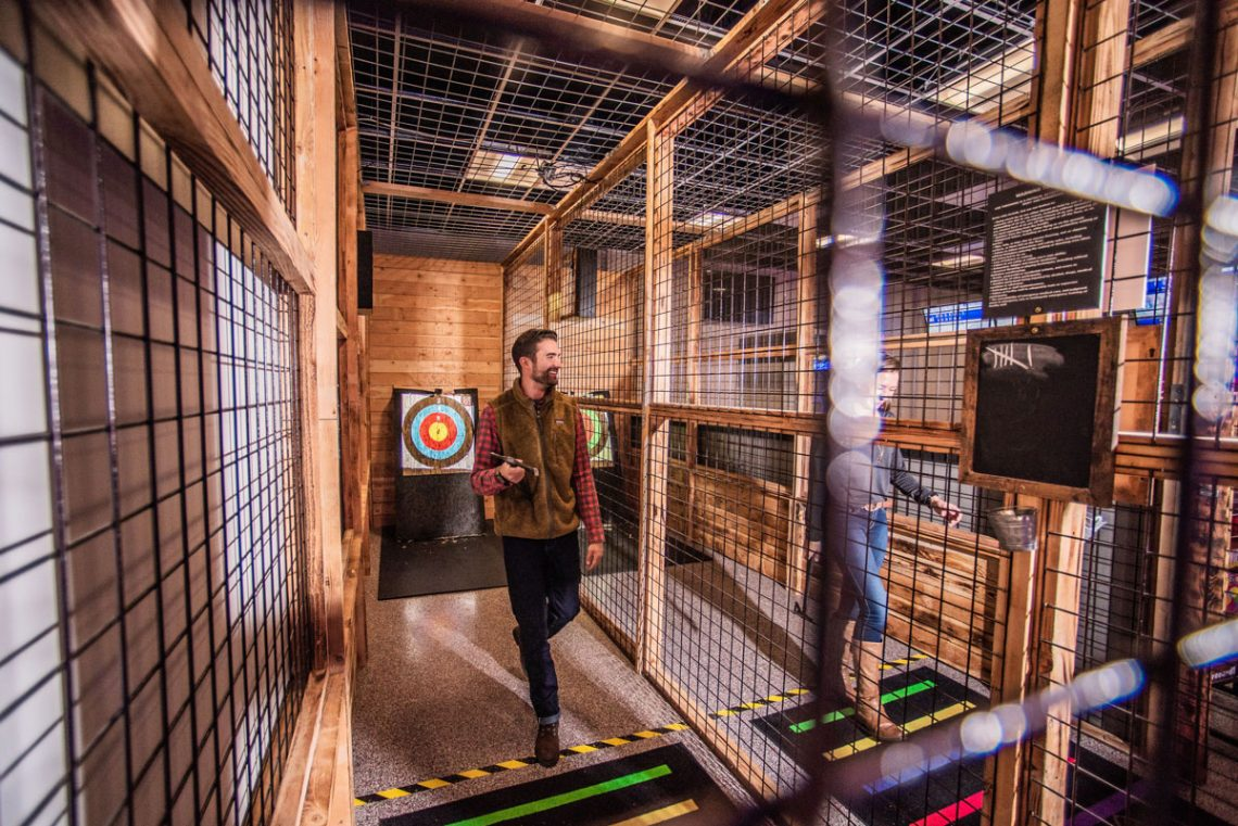 The Den axe throwing - Photography: Grand Traverse Resort and Spa