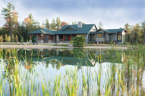 The Michigan Adirondack lodge, Torch Lake, Kalkaska County, Bespoke Homes LLC, Via Design Inc., Francesca Owings Interior Design LLC, Photography courtesy Jeff Tippett