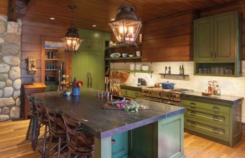 The MichiganAdirondack lodge, Torch Lake, Kalkaska County, Bespoke Homes LLC, Via Design Inc., Francesca Owings Interior Design LLC, Photography courtesy Jeff Tippett